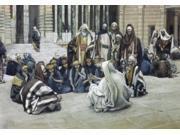 Jesus Speaking to the Treasury, James Tissot (1836-1902 French) Poster Print (18 x 24)