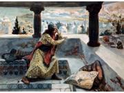 David sees Bath- Sheba Bathing, James Tissot (1836-1902 French), Jewish Museum, New York, USA Poster Print (18 x 24)