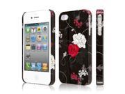 EMPIRE Signature Series Slim-Fit Case for Apple iPhone 4 / 4S – Black Flowers