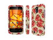 ZTE Force Case, MPERO SNAPZ Series Rubberized Case for ZTE Force N9100 - Vintage Red Roses
