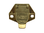 2 Way Car End Receptacle - Split Pins Heavy Duty