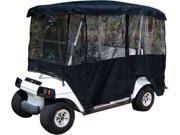 "Black Golf Cart Enclosure Vinyl Cover - 4 Passenger Carts with 80"" Top"