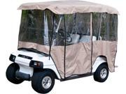 "Tan Golf Cart Enclosure Vinyl Cover - 4 Passenger Carts with 80"" Top"