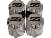 4 Chrome Center Caps for Golf Carts, Fits Club Car, EZGO Cart Wheels