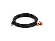 Hosa Technology Stereo Breakout, 3.5 mm TRSF to Dual RCA, 10 ft