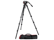 Manfrotto 504HD Head with 536 3-Stage Carbon Fiber Tripod Kit