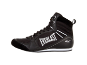 Everlast Lo-Top Pro Competition Boxing Shoes-Black-7.5