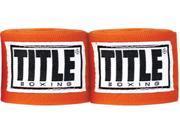 """Title Boxing 120"""" Semi Elastic Handwraps-Orange"""