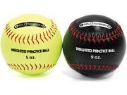 SKLZ Weighted Softballs  2-Pack (Yellow 5 oz, Black 9 oz)