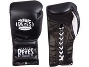 Cleto Reyes Traditional Lace Up Training Boxing Gloves - 18 oz - Black