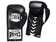 Cleto Reyes Safetec Professional Boxing Fight Gloves - 8 oz - Black