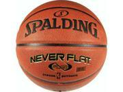 "Spalding NeverFlat Premium Composite Basketball - Size 7 (29.5"")"