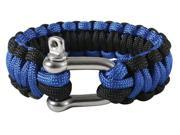 "Rothco Paracord Bracelet with D-Shackle - 9"" - Royal Blue/Black"