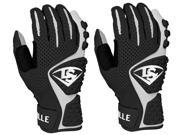 Louisville Slugger Youth Advanced Design Batting Gloves - Medium - Black