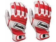 Franklin The Natural II Adult Batting Gloves - 2XL - Pearl/Red