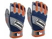 Franklin The Natural II Adult Batting Gloves - Small - Gray/Navy/Orange