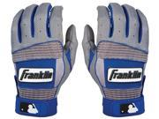 Franklin Adult Neo Classic II Batting Gloves - Small - Gray/Royal