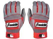 Franklin Adult Neo Classic II Batting Gloves - Small - Gray/Red