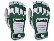Franklin CFX Pro Adult Batting Gloves - Medium - Pearl/Forest Green
