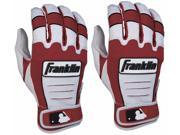 Franklin CFX Pro Youth Batting Gloves - Large - Pearl/Burgundy