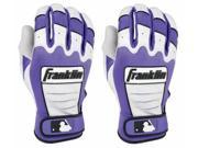Franklin CFX Pro Youth Batting Gloves - Large - Pearl/Purple