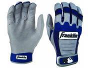 Franklin CFX Pro Adult Batting Gloves - 2XL - Gray/Royal