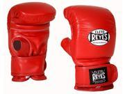 Cleto Reyes Boxing Bag Gloves with Velcro Closure - Small - Red
