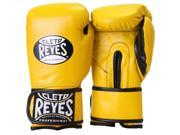 Cleto Reyes Hook and Loop Leather Training Boxing Gloves - 18 oz - Yellow