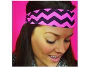 "Hippie Runner ""Pink Chevron"" Headband"