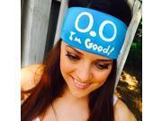 """Hippie Runner """"0.0 I'm Good"""" Headband - Teal/White"""