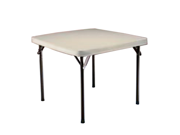 Lifetime Almond 37 Inch Square Table with Folding Legs