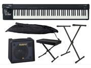 Roland A-88 88-key MIDI Keyboard Controller with KC-150 Amp Package