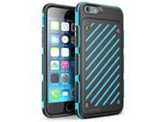 iPhone 6 4.7 Case, SUPCASE [Dual Layer Hybrid] Apple iPhone 6 Case [Unicorn Beetle S Series] Slim Armored Protective Case for iPhone 6 4.7 (2014 Release) - Black/Blue, [Not Fit iPhone 6 5.5 inch]