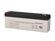 12V 2.3AH SLA Battery - Replaces Long Way LW-6FM2.4