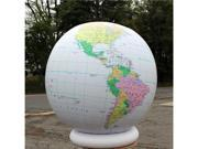 "36"" Inflatable Political Map Earth Globe"