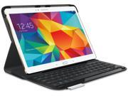New Original OEM Logitech Type-S Thin and Light Water-Repellant Protective Bluetooth Keyboard Case Cover Stand for Samsung Galaxy Tab S 10.5 (Bulk Package)