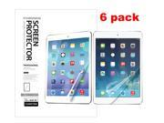 FORDIGI Apple iPad Air / iPad 5 Premium Quality Crystal Clear Screen Protector (6 Pack)