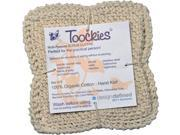 Toockies Hand Knit Organic Cotton Scrub Cloths in Vintage Dish Cloth Pattern- 3 Pack