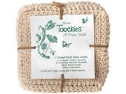 Toockies  Hand Knit Organic Cotton Scrub Cloths in Vintage Dish Cloth Pattern- 6 Pack