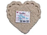 Toockies Hand Made Organic Cotton Trivets/Hot Pads in Unique Loving Heart Pattern