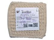 "Toockies Hand knit Exfoliating Wash Cloth for ""Him"" ? 100% Certified Organic Cotton"