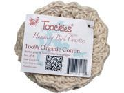 """Toockies Certified Organic Cotton Knit Coasters in Unique """"Humming Bird"""" Design- Set of 4"""