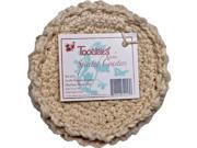 "Toockies Certified Organic Cotton Knit Coasters in Unique ""Spirited"" Design- Set of 4"