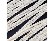 Braided French Trim Ribbon 3/8 inch 25 yards Wedding Prom Party Decoration - Color: Ivory