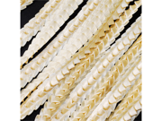 """Satin Lace Ruffle Ribbon Trim 1/2"""" 25 yards Wedding Baby shower Craft Sewing - Color: Ivory"""
