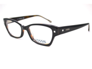 Fossil Giovanna Eyeglasses-In Color-Black Dark Tortoise-Size-51/16/140