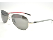 RAY BAN Sunglasses RB 8301 019/N8 Matte Silver 59MM