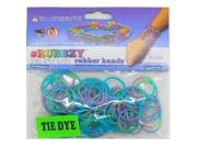 Rubbzy 100 pc Special Edition Tie Dye/Glitter Rubber Bands (#425)