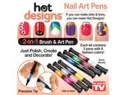 Hot Designs Nail Art Pens- Basic Beauty Colors