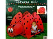 Ladybug Tent and Tunnel- Indoor/Outdoor Collapsible Play Tent